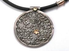 Biblical Priestly Benediction Designer Pendant Silver Gold Star of David Israel