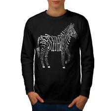 Esqueleto De Cebra Animal Hombre Manga Larga T-shirt new | wellcoda