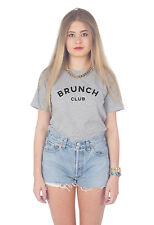 Brunch Club Camiseta Top Moderno Blogger Eslogan Divertido Bonito Tumblr LOVE