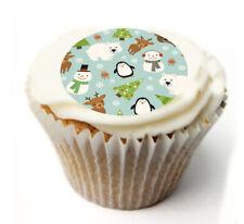 Cupcake Topper Christmas joy personalised Rice, Icing sheet 989