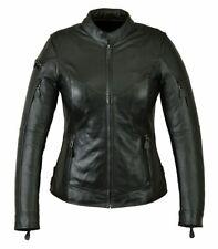 Bangla Damen Lederjacke Leder Jacke Bikerstil schwarz S M L XL