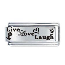 LIVE LOVE LAUGH Pics Daisy Charm JSC Fits Classic Size Italian Charms Bracelet