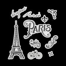 Découpes en papier imprimé _ BONJOUR PARIS / LOTS AU CHOIX _ Scrapbooking carter