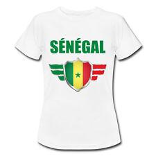T-shirt Enfant Sénégal avec prénom au dos personnalisé - Mondial Football 2018