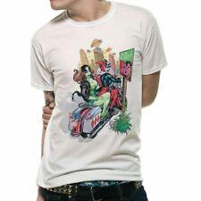 Men's Batman Bad Girls White T-Shirt