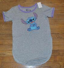 Disney Lilo & Stitch Ringer Style Crew Neck T-Shirt Juniors Tee Licensed