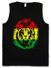 RASTAFARI LION II TANK TOP Bob Reggae Marley Jamaica Wailers Haile Selassie