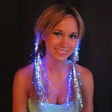 Fiber Optic Hair Decoration Lights LED Glow Glowbys Costume Clips Glowby Rave