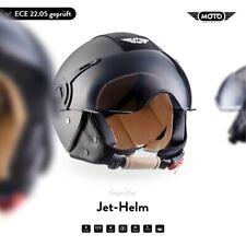 Jet-Helm Leder-Helm Roller-Helm Motorrad-Helm / MOTO H44 Vintage T. XS S M L XL
