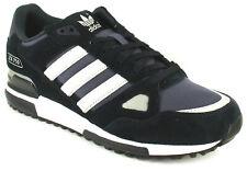 Hombre/Hombre Azul Marino/Blanco Adidas Cuero Zapatillas Correr Ligeras Talla UK