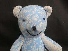 """1996 BABY BOY BLUE JOINTED TEDDY BEAR POLKADOTS PLUSH TEDDY STUFFED ANIMAL 10"""""""