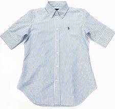 Ralph Lauren Women's Slim Fit Striped Chambary Oxford Shirt In Blue/White