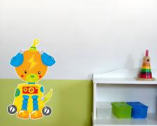 Roboter Robodog Wandtattoo Wandaufkleber Kinderzimmer  4 Größen