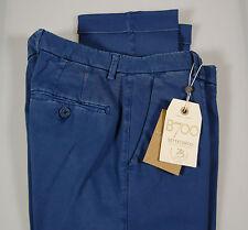 Pantalone slim fit B700 in cotone smerigliato lavato stretch Azzurro scuro Saldi