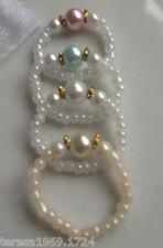 Fatto a mano vetro Stretch Pearl Thumb Ring Alluce Perline Anello Impilabile da sposa