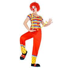 Frauenkostüm Clown + Perücke Clownfrau Clownkostüm Harlekin Fasnacht Karneval