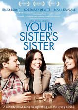 Your Sister's Sister DVD  Emily Blunt, Rosemarie Dewitt, Mark Duplass  BRAND NEW