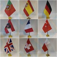 European Table Desk Top Flag - Uk England Germany Spain wales .
