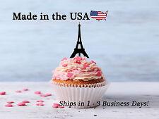 Paris Eiffel Tower Cupcake Toppers, Paris Topper, Eiffel Topper, Travel, LCT1033