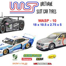 WASP 10 - Urethane Slot Car Tyres - Scalextric 1990's GT, BTCC, Slot-it, Racer