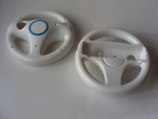 2pcs Black White Blue Mario Kart Steering Wheel Nintendo Wii Remote Controller