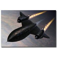 136996 SR-71 BlackbirdMilitary Aircraft In The Sky Wall Print Poster CA