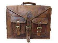 """17"""" Mens Real Vintage Leather Messenger  Business Laptop Briefcase Satchel Bag"""