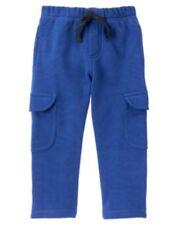 GYMBOREE STRAIGHT A ATHLETES BLUE CARGO SWEAT PANTS 6 12 18 4T 5T NWT