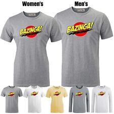 Bazinga Big Bang Theory Sheldon Cooper Graphic Long Short Sleeves Couple T-shirt