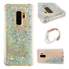 Silver Armor Quicksand Glitter Bling Liquid hard Cover Case For Samsung S8 S9 S7