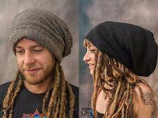 DREADLOCK BEANIE HAT Extra Large & Large Wool Hippy Psytrance Festival Wear