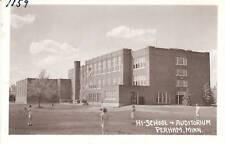 D9196 Mn, Perham High School Photo Postcard