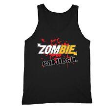Zombie Eat Flesh Tanktop Funny Custom Parody Comedy Fresh Blood Halloween Tank