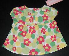 NWT: New 6-12 Month Gymboree Pink & Green Flower Shirt