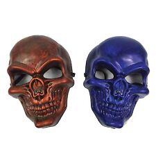 Kids Plastic Skull Mask Halloween Scary Fancy Dress Mask