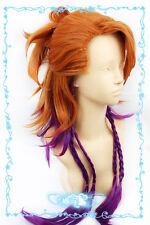 104 Black Butler Kuroshitsuji Joker Orange Purple mix Cosplay Wig