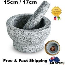 Solid Stone Mortar+Pestle Set Unpolished Solid Granite Spice Herb Grinder