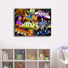 Graffiti Art Stretched Canvas Prints Framed Wall Art Home Decor Painting IX