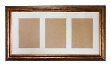 """20x10 Effetto Oro Antico Cornice Foto ~ - richiede 3 - 7""""x5"""" foto ~ con vetro"""