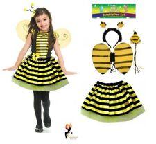 Kids BUMBLE BEE TUTU COSTUME Fancy Dress Easter Ears Animal Accessory Set