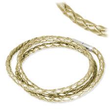 IMPPAC Leder Armband geflochten perlmutt dreifach SMLA43XX