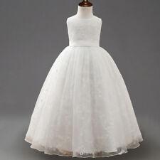 Flower Girl Dress Princess Formal Birthday Pageant Wedding Bridesmaid O101