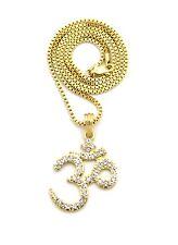 Beautiful Om Shaped Zircon Studded Locket In Silver /& Brass FP1076