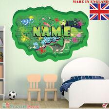 Graffiti 02 Personnalisé Nom Enfants Chambre Autocollant Mural Décalque Tissu vinyl UK