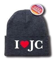"NEW MEN WOMEN ""I LOVE JC"" JESUS CHRISTIAN THEME Snowboard SKI Beanie HAT HIP HOP"