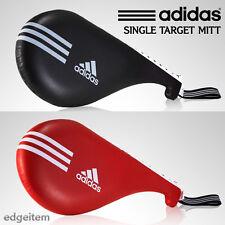 Adidas Taekwondo Single Target Mitt Black / Red Kick Pad TKD Training Gear