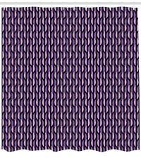 Vivid Geometry Pattern Shower Curtain Fabric Decor Set with Hooks 4 Sizes
