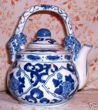 Vintage Handmade CHINESE PORCELAIN CANTONESE Tea Pot