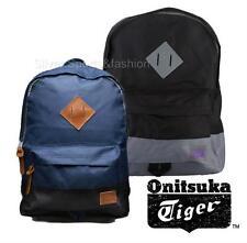 Asics Onitsuka Tiger Backpack  Black Navy  gym school college laptop rucksack