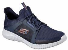 Skechers Elite Flex Herren Schuhe Turnschuhe Sneaker 52640 (Blau/Orange-NVOR)